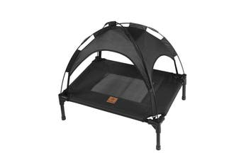 Charlies Elevated Pet Bed With Tent Black 61*46*18