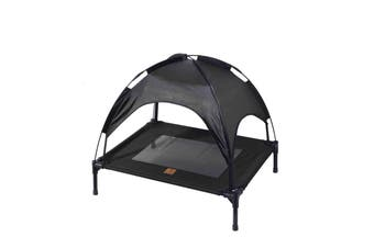 Charlies Elevated Pet Bed With Tent Black 76*61*18