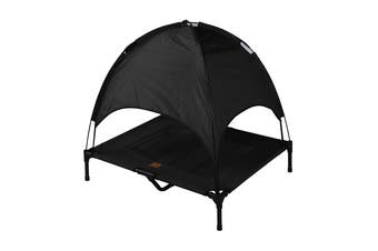 Charlies Elevated Pet Bed  With Tent Black 92*76*18