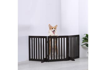 Charlie's Freestanding 3 Panel Doggy Jail - Brown