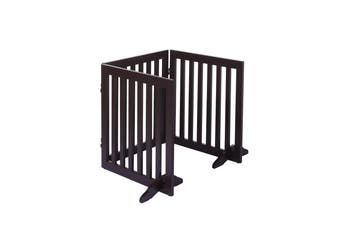 Charlie's Durable 100% MDF 3 Panel Freestanding Pet Gate Brown