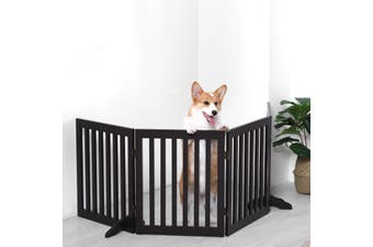 Charlie's Freestanding 4 Panel Doggy Jail - Brown