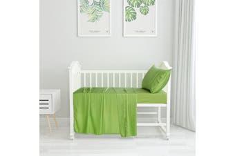 Natural Home Bamboo Cot Sheet Set Standard GREEN