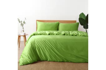 Natural Home Bamboo Quilt Cover Set Super King Bed GREEN