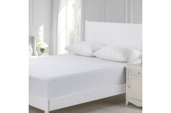 Dreamaker Cotton Terry Towelling Waterproof Mattress Protector King Single Bed