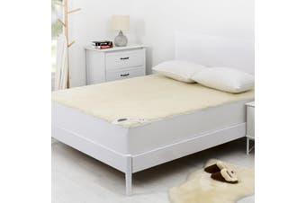 Wooltara Classic 350GSM Washable Wool Fleece Underblanket Single Bed