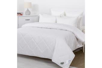 Wooltara Luxury Comfort 200GSM Washable Summer Australia Wool Quilt  Super King Bed