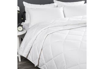 Wooltara Luxury Four Season Two Layer Washable Australian Alpaca Wool Quilt Super King Bed