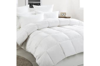 White Duck Down & Feather Winter Quilt Super King Bed