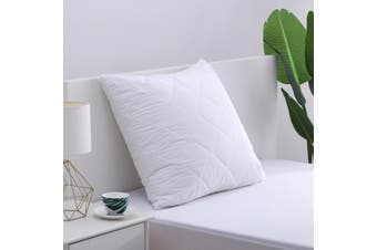 Dreamaker Cotton Cover Microfibre Filling Quilted Pillow Protector - Euro size