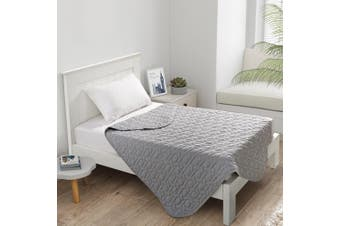 Dreamaker Cotton Jersey Quilted Blanket Marle Grey