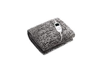 Dreamaker Premium Faux Chinchilla Fur Heated Throw - Grey