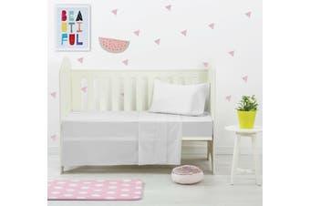 Dreamaker Baby 250 TC Egyptian Cotton Cot Sheet Set Silver