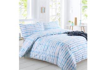 Dreamaker Shibori Printed quilt cover set King Bed Rain