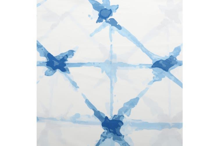 Dreamaker Shibori Printed quilt cover set Super King Bed Faded Crosses