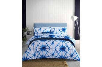 Dreamaker Shibori Printed quilt cover set King Bed blossoms