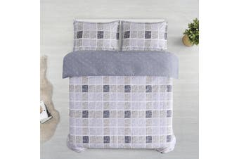 Printed Cotton Sateen Quilt Cover Set King Bed Nawa