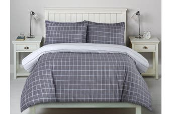 Printed Cotton Sateen Quilt Cover Set King Bed Williams