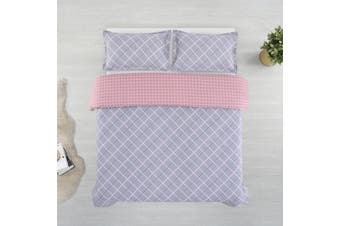 Printed Cotton Sateen Quilt Cover Set King Bed Jordan