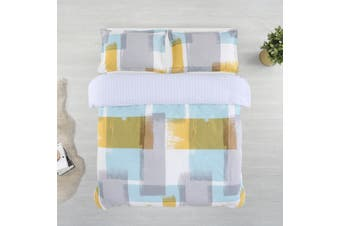 Printed Cotton Sateen Quilt Cover Set King Bed Arctic