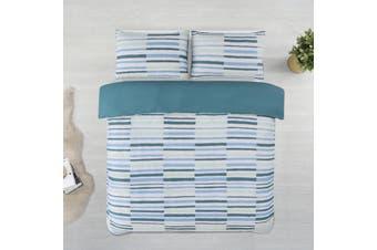 Dreamaker Printed Microfibre Quilt Cover Set Single Bed Wesley