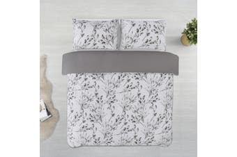 Dreamaker Printed Microfibre Quilt Cover Set King Bed Meadow