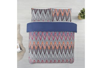 Dreamaker Printed Microfibre Quilt Cover Set King Bed Alberta