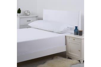 Dreamaker 250TC Plain Dyed Body Pillowcase - White