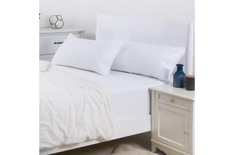 Dreamaker 250TC Plain Dyed King Size Pillowcases - Twin Pack - White