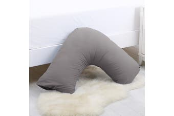 Dreamaker 250TC Plain Dyed V Shape Pillowcase - Oyster