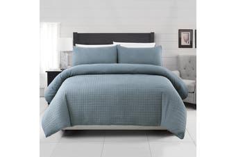 Dreamaker Premium Morgan Quilted Sandwashed Quilt Cover Set King Bed