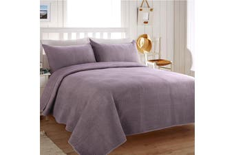 Dreamaker Premium Orla Quilted Sandwashed coverlet Queen/King Bed