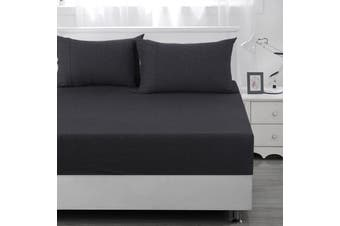 Dreamaker cotton jersey fitted sheet charcoal DB