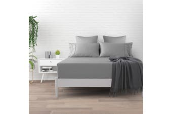 Dreamaker 500 TC Cotton Sateen Fitted Sheet Queen Bed - Platinum