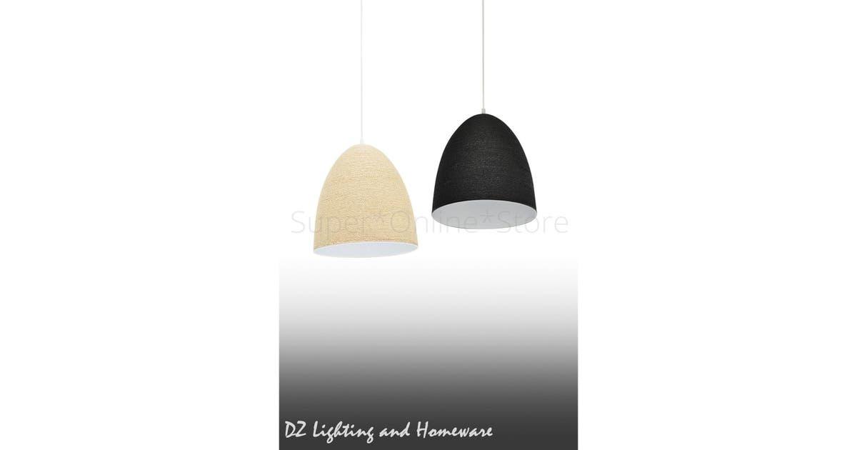 2x Kumiko Natural Modern Home Restaurant Cafe Ceiling Pendant Light Brown Matt Blatt