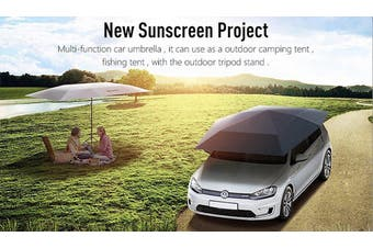 Car Umbrella Sun Shade ---Multi Purpose & Fully Remote & Slivery Grey