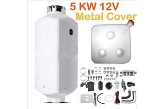 5KW 12V Metal Shell Diesel Air Heater for Caravan Motorhome RV Garage Workshop Indoor
