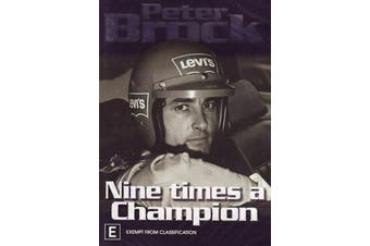 Peter Brock - Nine Times A Champion (DVD, 2006) Region 4 - New