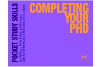 Completing Your PhD: Pocket Study Skills - Education Book Aus Stock