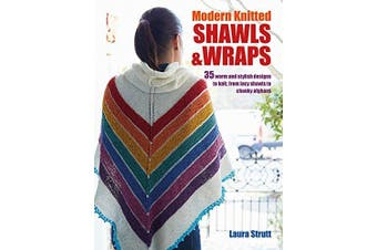 Modern Knitted Shawls and Wraps Home & Garden Book Aus Stock