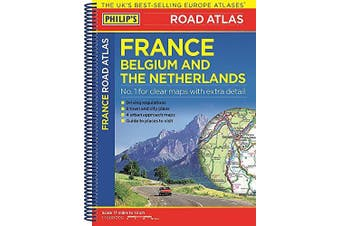 Philip's Road Atlas France, Belgium and The Netherlands Travel Book Aus Stock