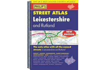 Philip's Street Atlas Leicestershire and Rutland - Travel Book Aus Stock