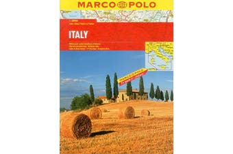 Italy Marco Polo Atlas: Marco Polo Atlases - Travel Book Aus Stock