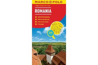 Romania Marco Polo Map: Marco Polo Maps - Travel Book Aus Stock