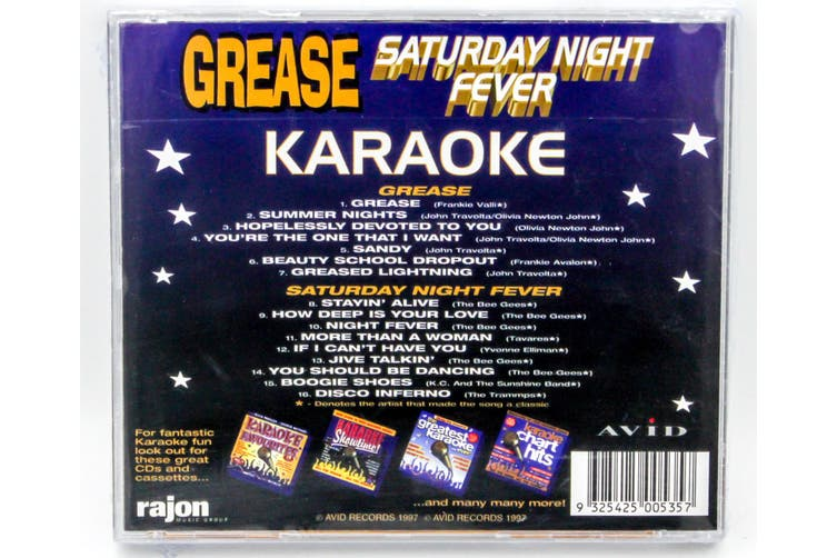 Grease Saturday Night Fever - Karaoke BRAND NEW SEALED MUSIC ALBUM CD