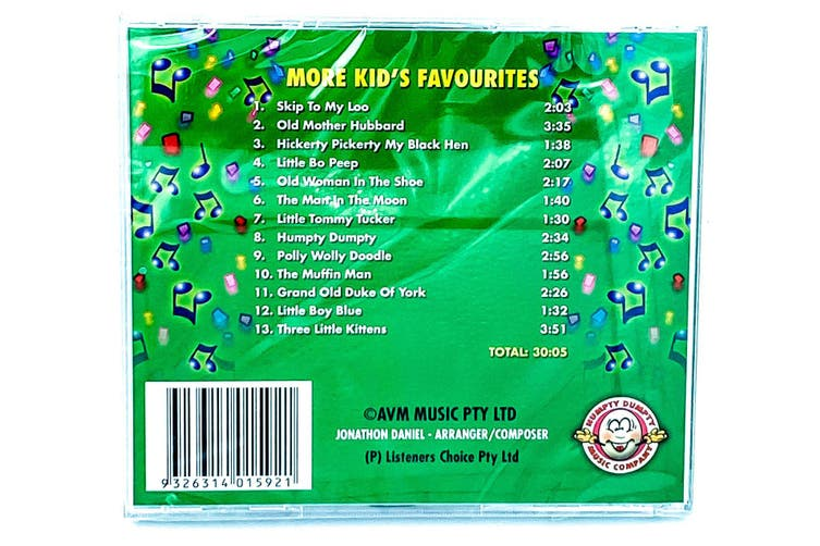 Childrens Favourites: More kids Favourites BRAND NEW SEALED MUSIC ALBUM CD