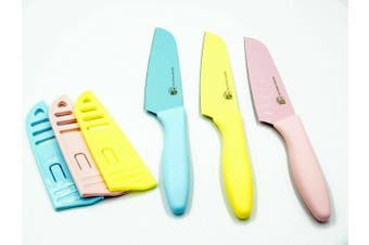 Kitchen Knives High Quality Sharp Blade Knife Nonstick Dishwasher Safe set B/Y/P