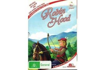 ROBIN HOOD CD LYRICS BOOK COLOURING BOOK BOXED SET -Kids Region 4 DVD NEW