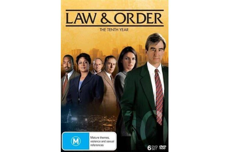 Law And Order : Season 10 - Series Region 4 Rare- Aus Stock DVD NEW