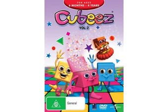 Cubeez Vol 2 -Rare DVD Aus Stock -Family New